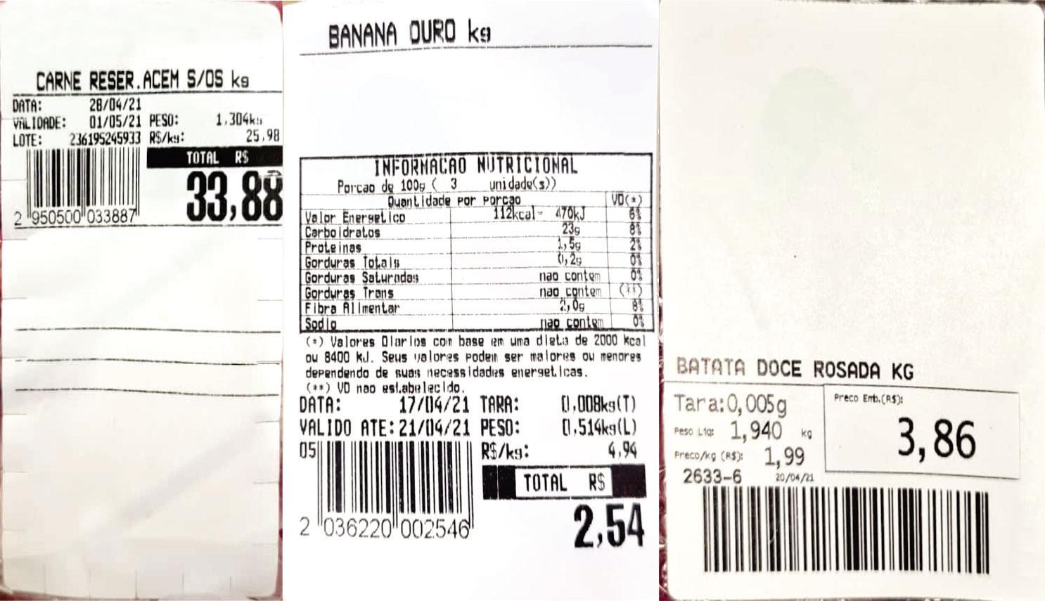 Desperdício gerado nas etiquetas adesivas tradicionais.